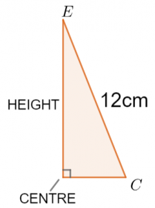 3D Pythagoras and Trig Height Answer