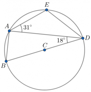 angle in semicircle question circles
