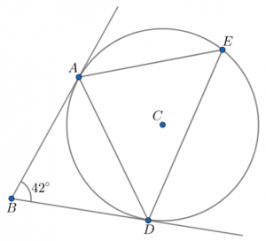 equal tangents to a point exam question
