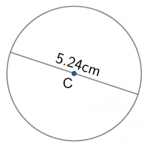 area of circle example question