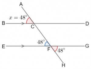 unknown vertically opposite corresponding f angle question answer