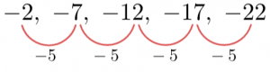 Quadratic Sequence New Linear Sequence Find an+b Coefficients