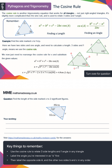 More features of GCSE Maths Bundle