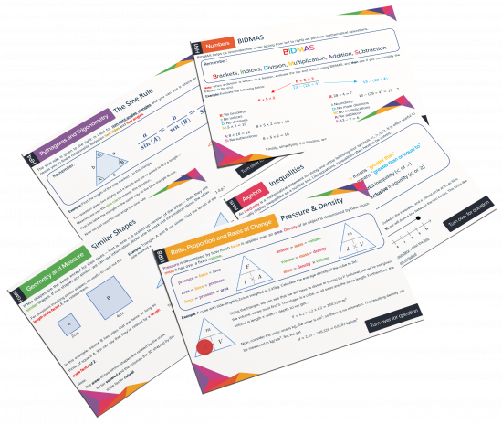 GCSE Maths Revision Cards Feature Image