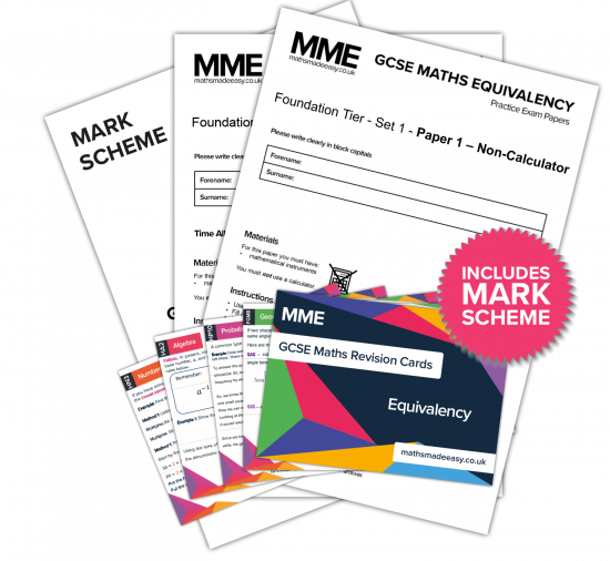 GCSE Maths Equivalency Practice Papers & Revision Cards Feature Image