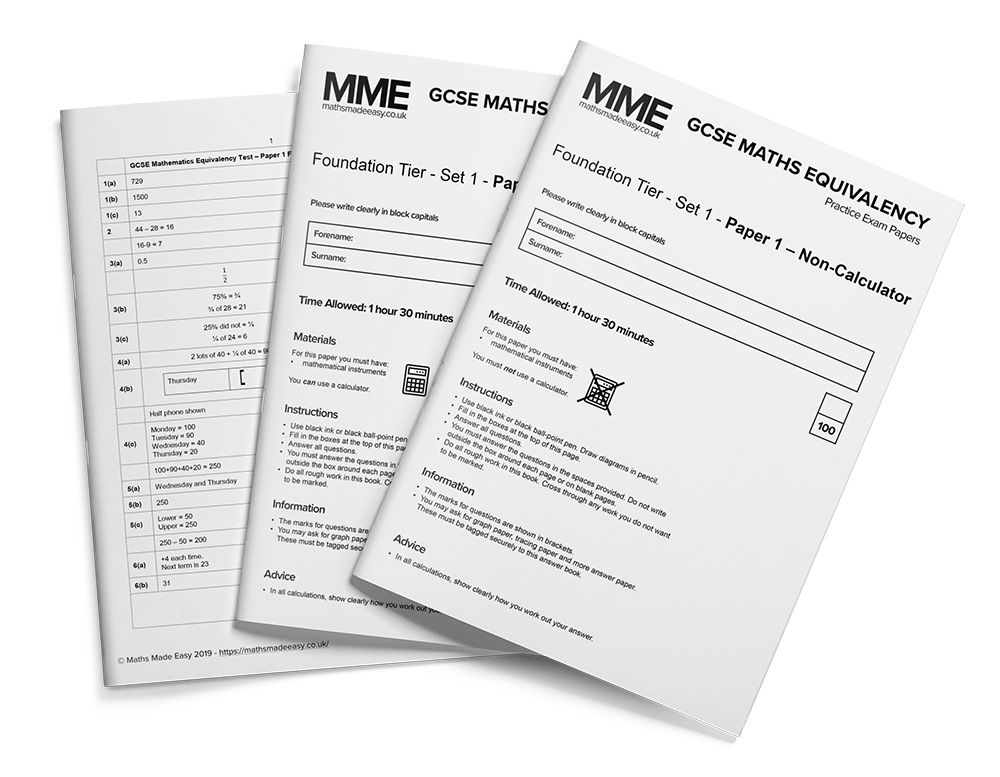 GCSE Equivalency Practice Papers