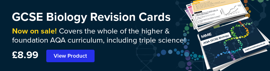 GCSE Biology Revision Cards Now on Sale