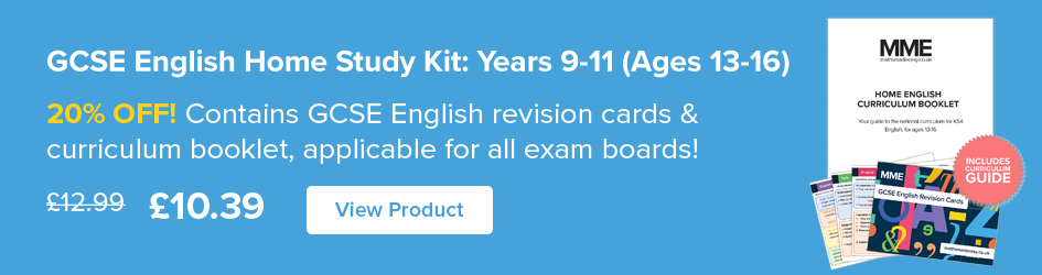 Home English Study Kit: Years 9-11 (Age 13-16) Now on Sale