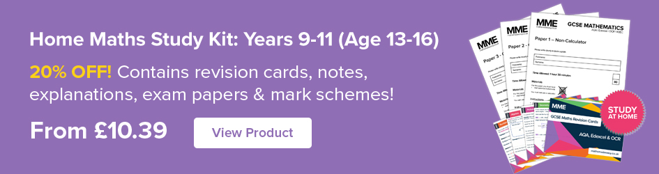 Home Maths Study Kit: Years 9-11 (Age 13-16) Now on Sale