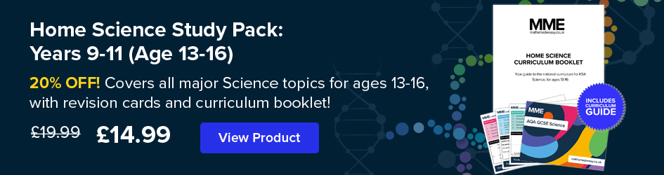 Home Science Curriculum Card Pack: Years 9-11 (Age 13-16) Now on Sale