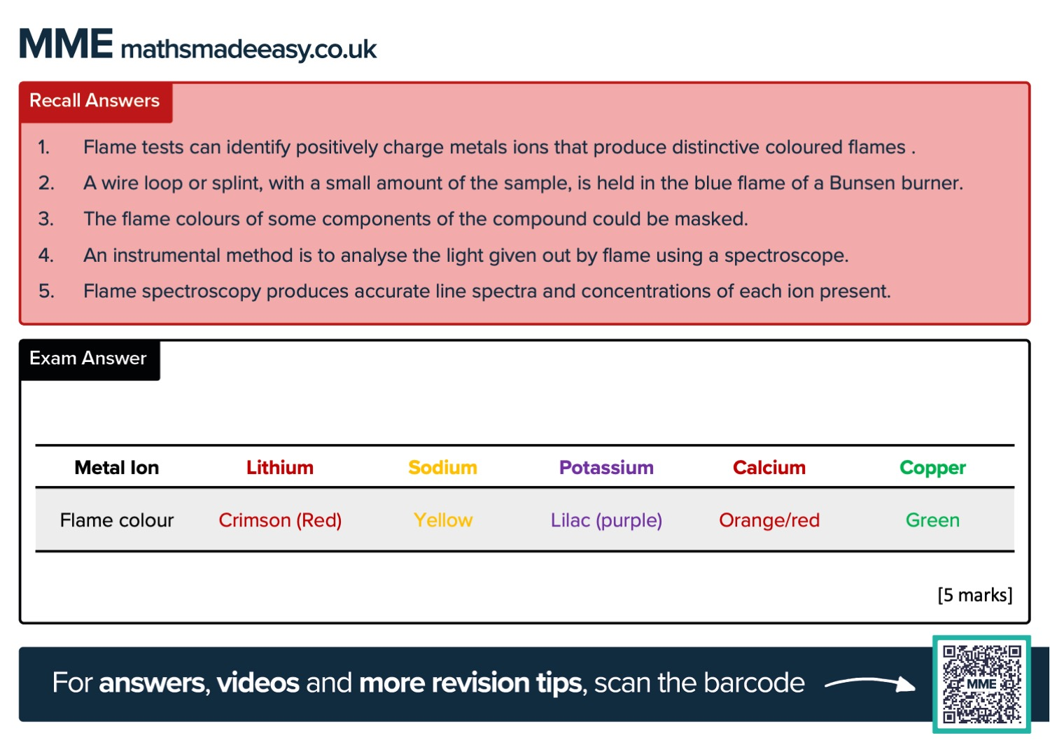 GCSE Chemistry Revision Cards Preview Image