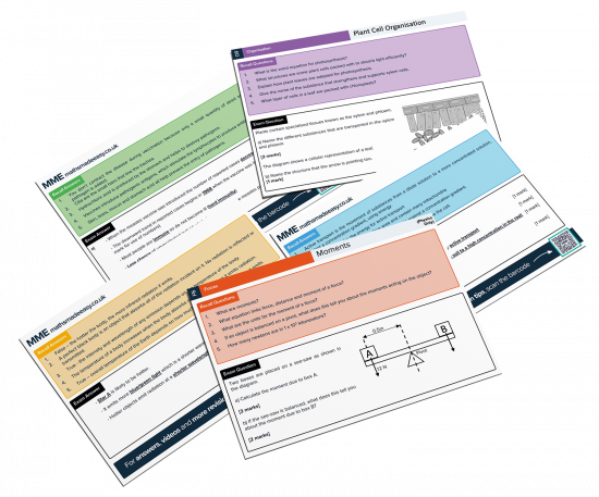 GCSE Combined Science Revision Cards Feature Image