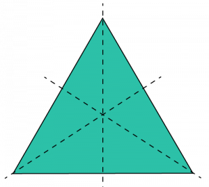 symmetry in triangle question answer