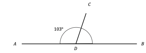 unknown angle on straight line