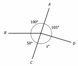 unknown angle around point