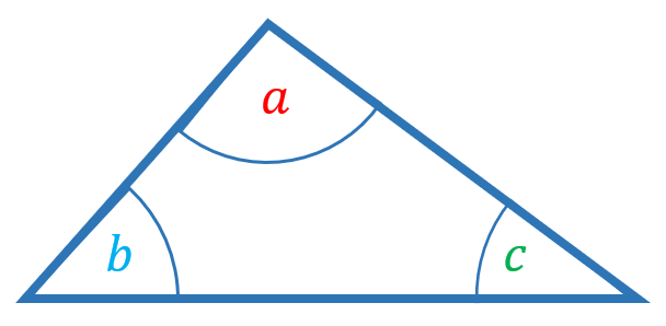 angles in a triangle 180 degrees