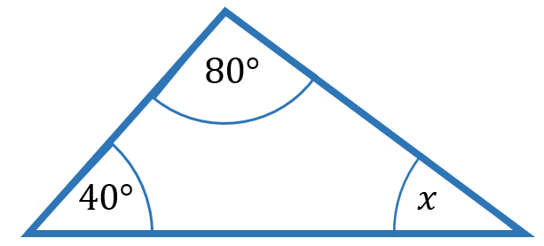 unknown angle in triangle