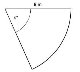 area of sector angle question
