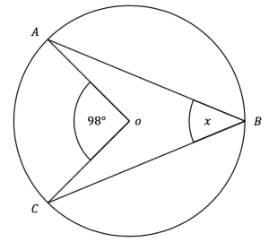 angle at centre circumference question