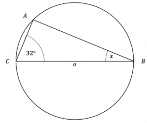 angle in semicircle question