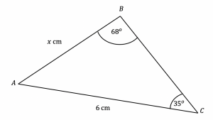 Sine rule to find a length