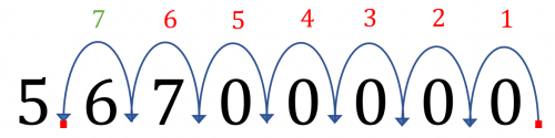 Large Numbers to Standard Form