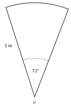 area of sector question