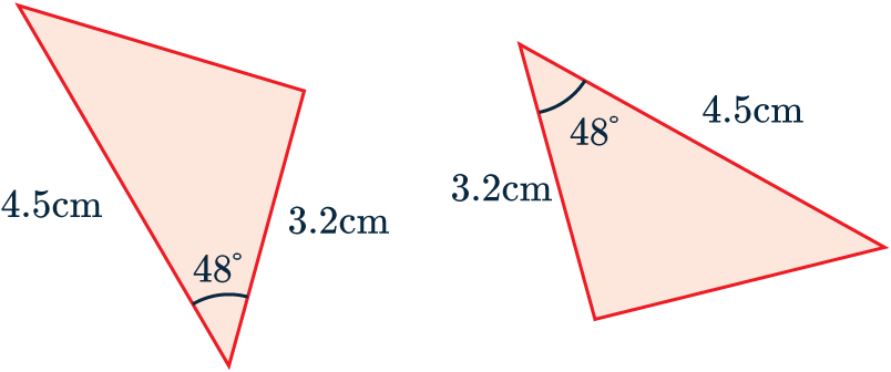 congruent triangle side angle side example