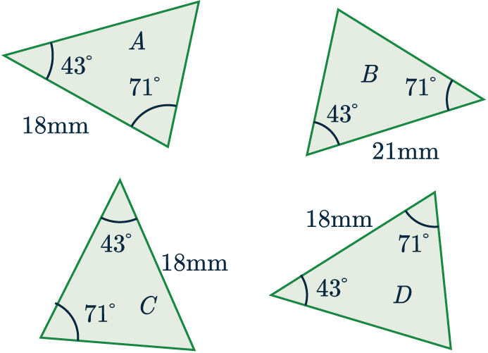 congruent triangles example