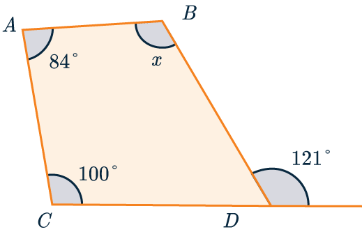 unknown interior angle example