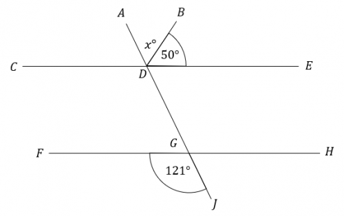 unknown angle around a point question