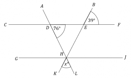 unknown angle in a triangle question