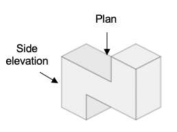 projections plans and elevations example 3