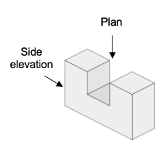projections plans and elevations example 4