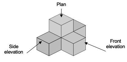 projections plans and elevations example 5
