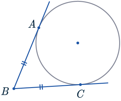 tangents from same point are equal