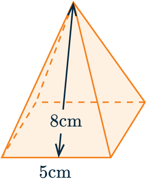 surface area of square based pyramid example