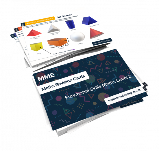 Functional Skills Maths Level 2 Revision Cards Feature Image